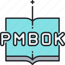 book, pmbok, project management, study icon