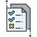checklist, priorities, production, production priorities, to do, to do list icon