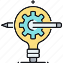 creativity, idea, project, project idea icon