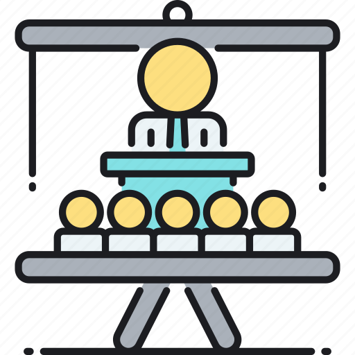 conference, presentation, presenter, seminar, speech, training, workshop icon