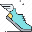 footwear, shoes, sneakers, sprint icon