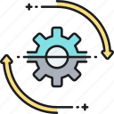 cog, gear, loading, progress, spinning, wheel, workflow icon