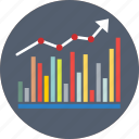 analytics, bar chart, bar diagram, bar graph, geographic information icon