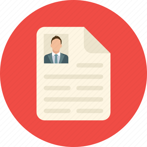 Curriculum vitae, cv, job profile, personal informations, resume icon - Download on Iconfinder