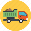 construction vehicle, lorry, pickup, transport, truck