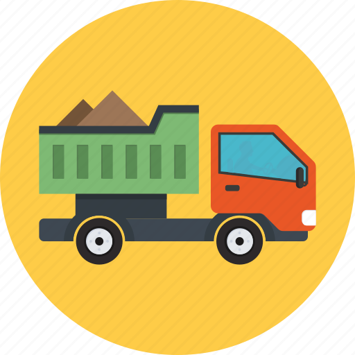 construction vehicle, lorry, pickup, transport, truck icon