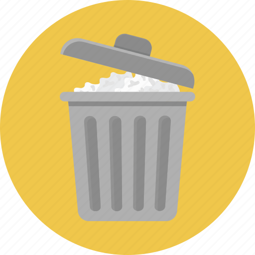 Delete, dustbin, garbage, recycle, trash can icon - Download on Iconfinder