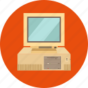computer, computer hardware, desktop computer, microcomputer, pc, workstation icon