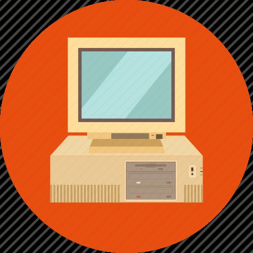 Computer, computer hardware, desktop computer, microcomputer, pc, workstation icon - Download on Iconfinder