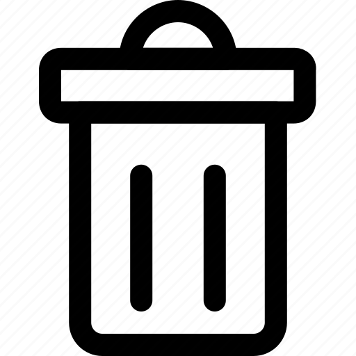 delete, dustbin, garbage, recycle, trash can icon