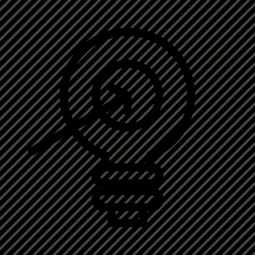 aim, bulb, concept, idea, management, project, target icon