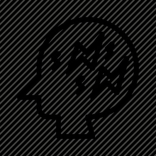 brain, brainstorming, creative mind, decision making, intelligent, management, project icon