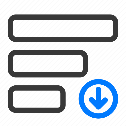 agile, descending, list, prioritize, reorder, scrum, sort icon