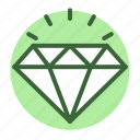 diamond, premium, quality, shine icon icon