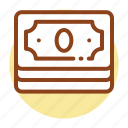 cash, dollar, earnings, money, profit, savings, stack icon icon