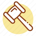 court, gavel, hammer, judge, justice, law, lawsuit icon icon