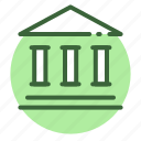 bank, finance, financial, institution, loan, stock, treasury icon icon