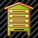 bee, beehive, cartoon, drawing, food, honey, vik56