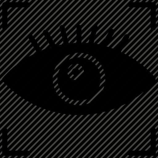 eye scanner, iris biometric, iris recognition, retinal recognition, retinal scan icon