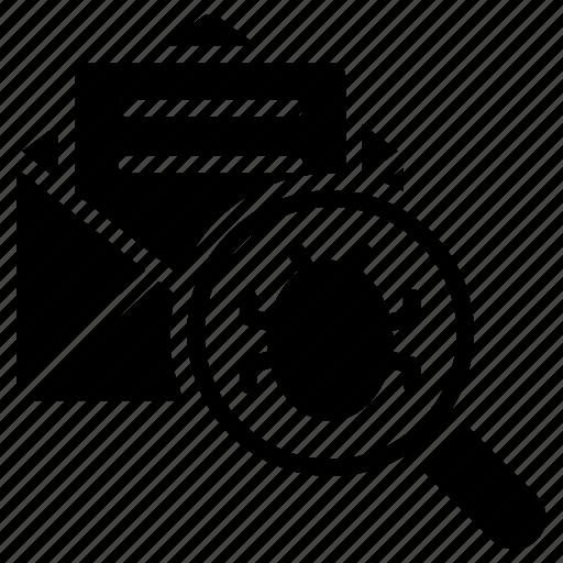 email-virus threat, malware, spam email, virus hoax, web beacon icon