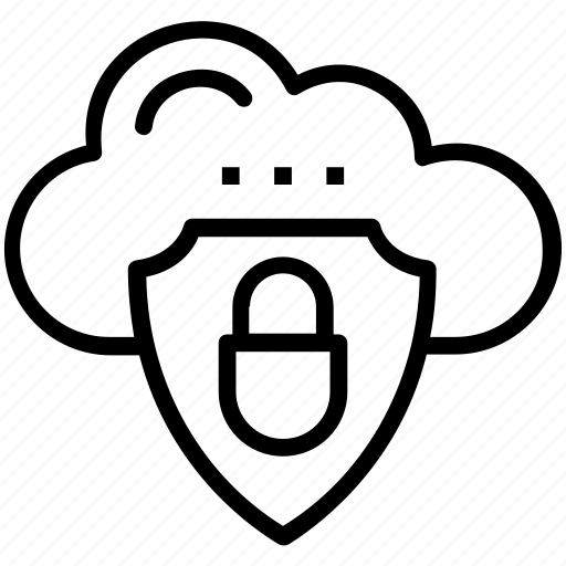 cloud information security, cloud security, cloud-network security, cloud-security controls, data security icon