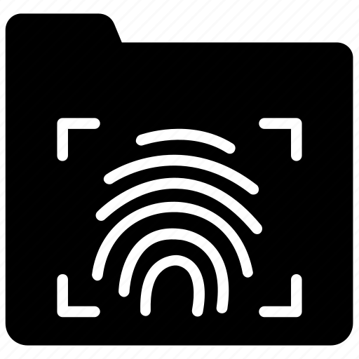 biometric authentication, biometric data access, data security, personal folder, secure folder icon