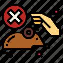 corona, covid, forbidden, hand, rat, touch, virus