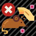 corona, forbidden, hand, rat, touch, virus