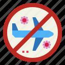 airplane, corona, covid, forbidden, transportation, virus