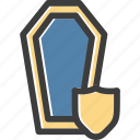 coffin, protect, protection, shield