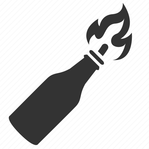 bomb, bottle, explode, fire, fire bomb, hand grenade, incendiary bomb icon