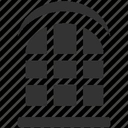 calaboose, gaol, immure, jail, lockup, prison, window icon