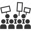 crowd, mob, protest, protester, rebel, riot, strike icon