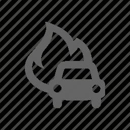 car, fire icon
