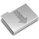 arrow, down, download, folder, torrents icon