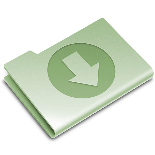 download, folder, green icon