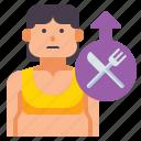 binge, eating, food icon