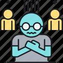 avoidant, avoidant personality disorder, disorder, personality, personality disorder icon