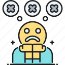 negative, negative thoughts, negativity, paranoid icon