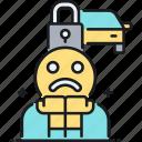 car, lock, paranoia, paranoid icon