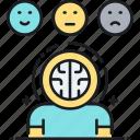 emotional health, emotions, mental health, psychology, psychopathology, study icon
