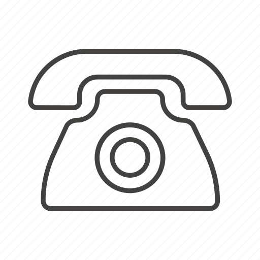 call, call center, line, phone, public, sign, thin icon