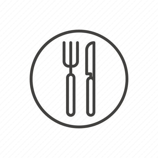 cafe, food, public, restaurant, seat, sign, thin icon