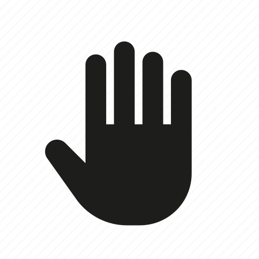 ban, hand, hold, stop, wait, yield icon