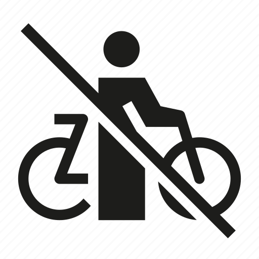 ban, bicycle, bicycle prohibited, no bicycle allowed, no bike, no bikes icon