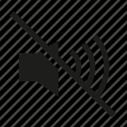 audible, audio, mute, no sound, no volume, sound icon