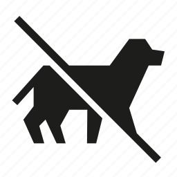 ban, no animal, no animal allowed, no dog, no pet, prohibited icon