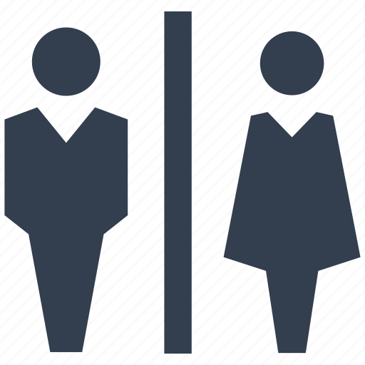 bathroom, female, girl, human, man, person, silhouette, toilet, wc, woman icon