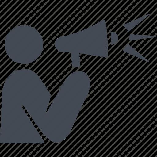 mouthpiece, public cpeech, speaker, speech icon
