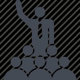 public cpeech, sound, speaker, tribune icon